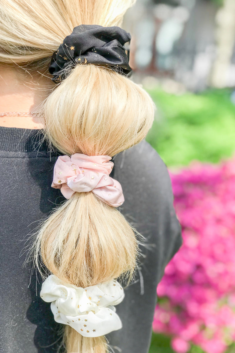 Astrology Chiffon Hair Scrunchie