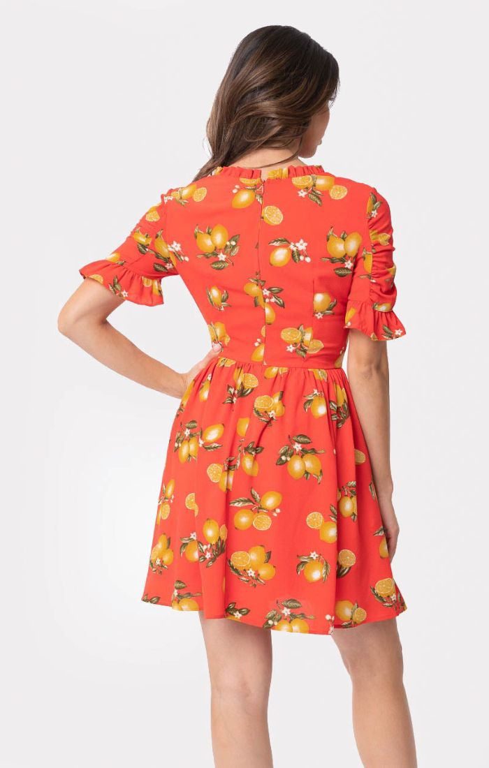 f1973b44fd Pre Order: Media Darling Red, Lemon Print Dress by Smak Parlour ...