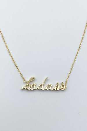 Be A Badass Necklace