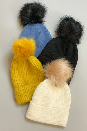 Knit Just Got Real Pom Pom Hat
