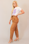 Chestnut High Waisted Paper Bag Trouser Pant