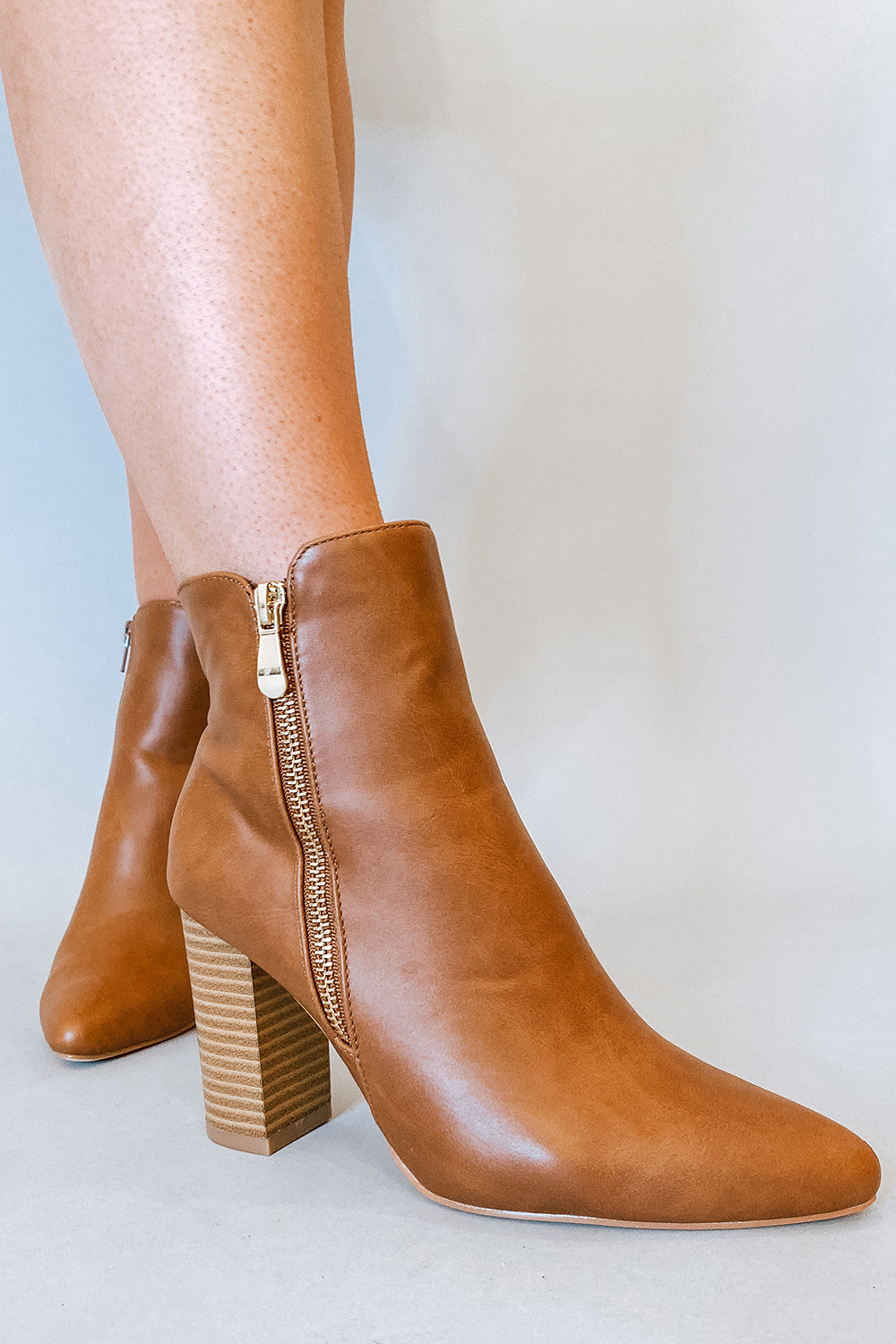 Brown High Heeled Bootie