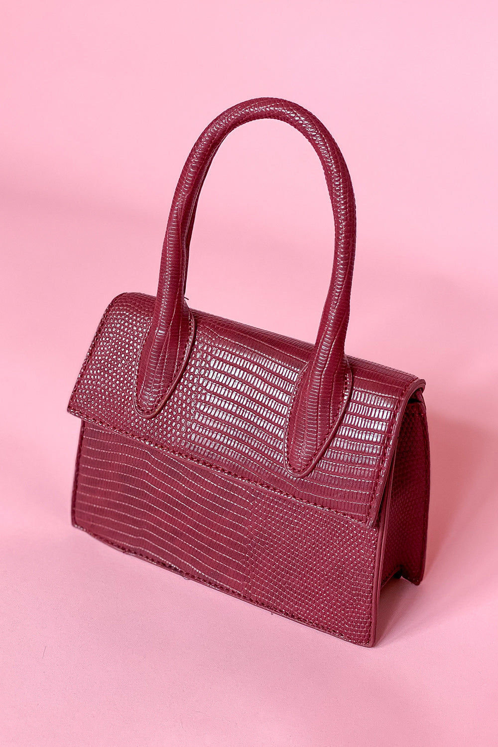 Ready To Croc Burgundy Mini Bag