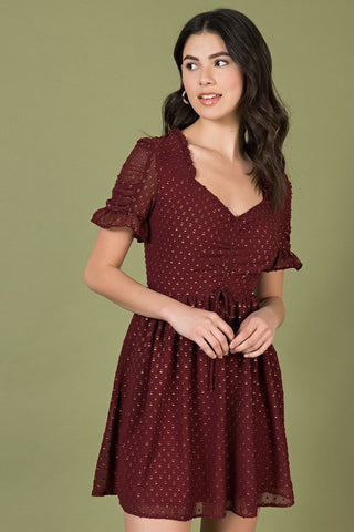 Make Me Over Red Cherry Print Halter Dress by Smak Parlour