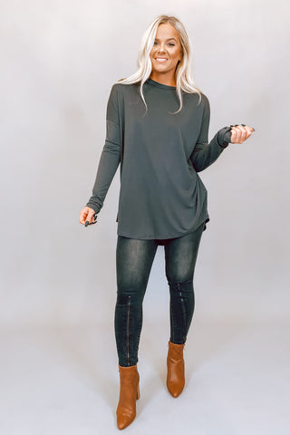 Button Up Black Distressed V Neck Sweater