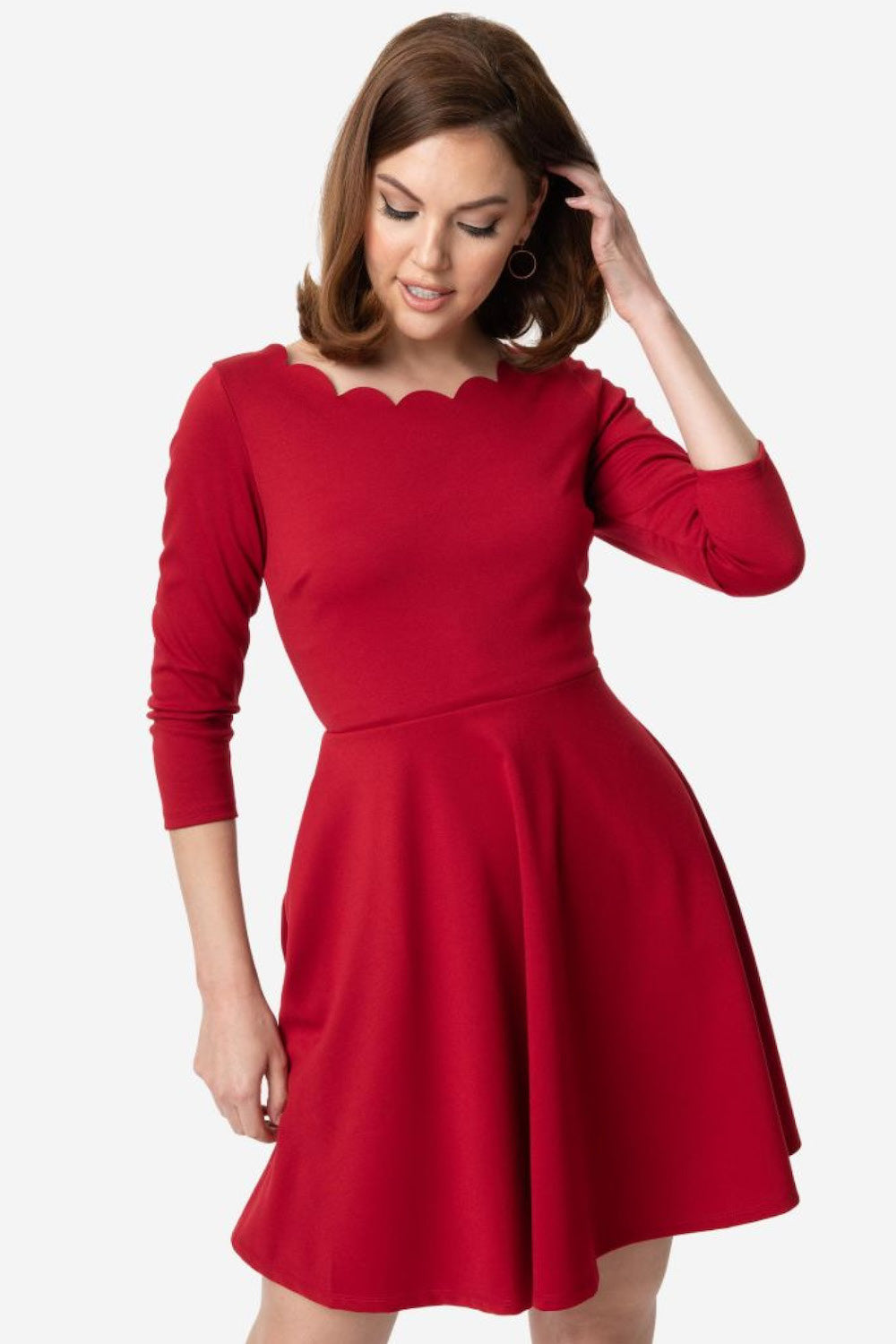 Berry Red Charmed Fit & Flare Dress By Smak Parlour
