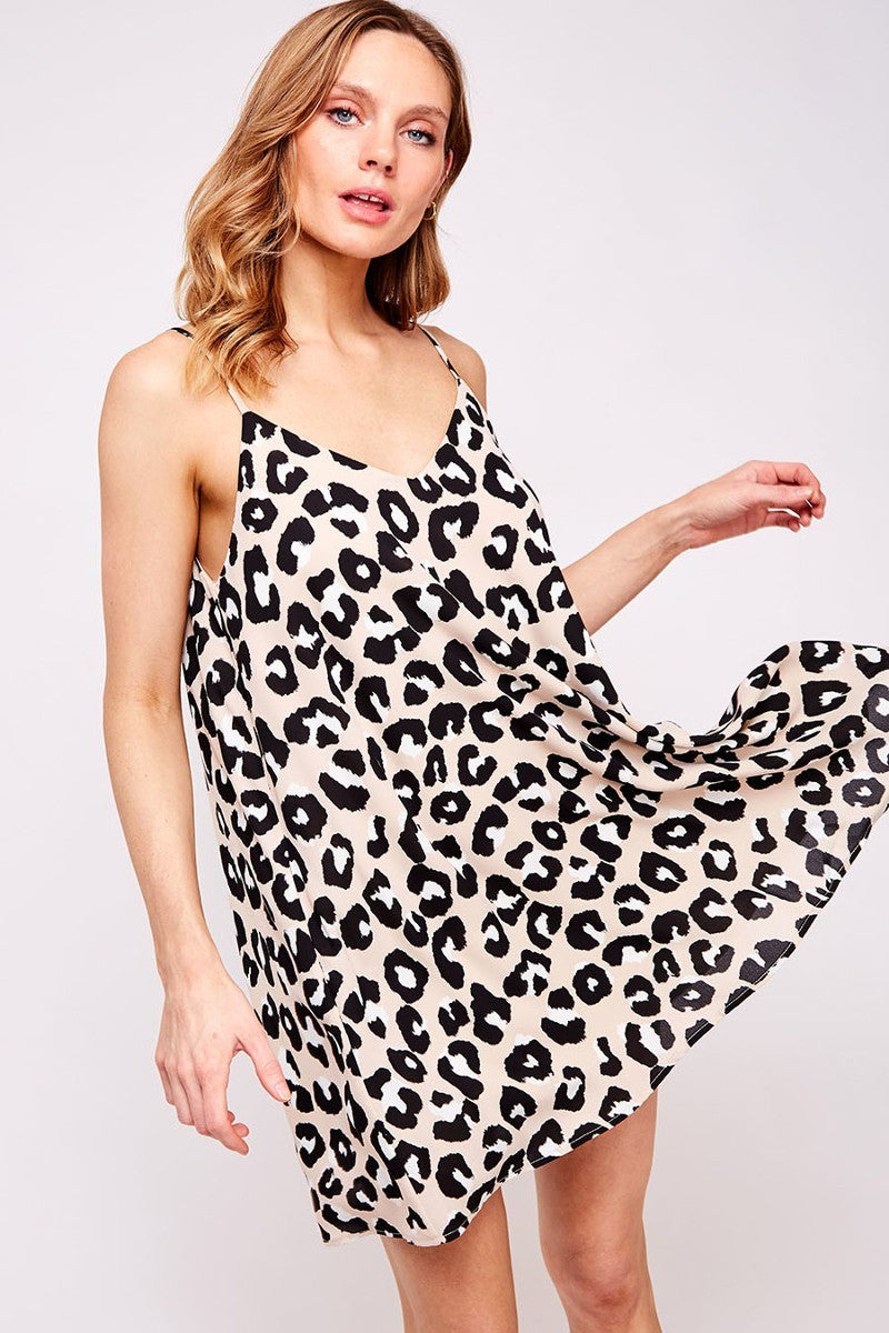 On The Prowl Leopard Sleeveless Dress