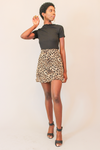 So Fierce Chiffon Leopard Mini Skirt