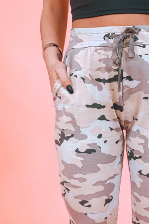 On The Go Pastel Camo Joggers