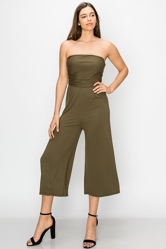 Sleeveless Olive Green Jumpsuit