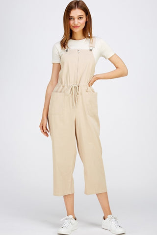 Back to Business Light Brown Cropped Trouser Pants