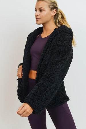 Black Teddy Relaxed Fit Jacket