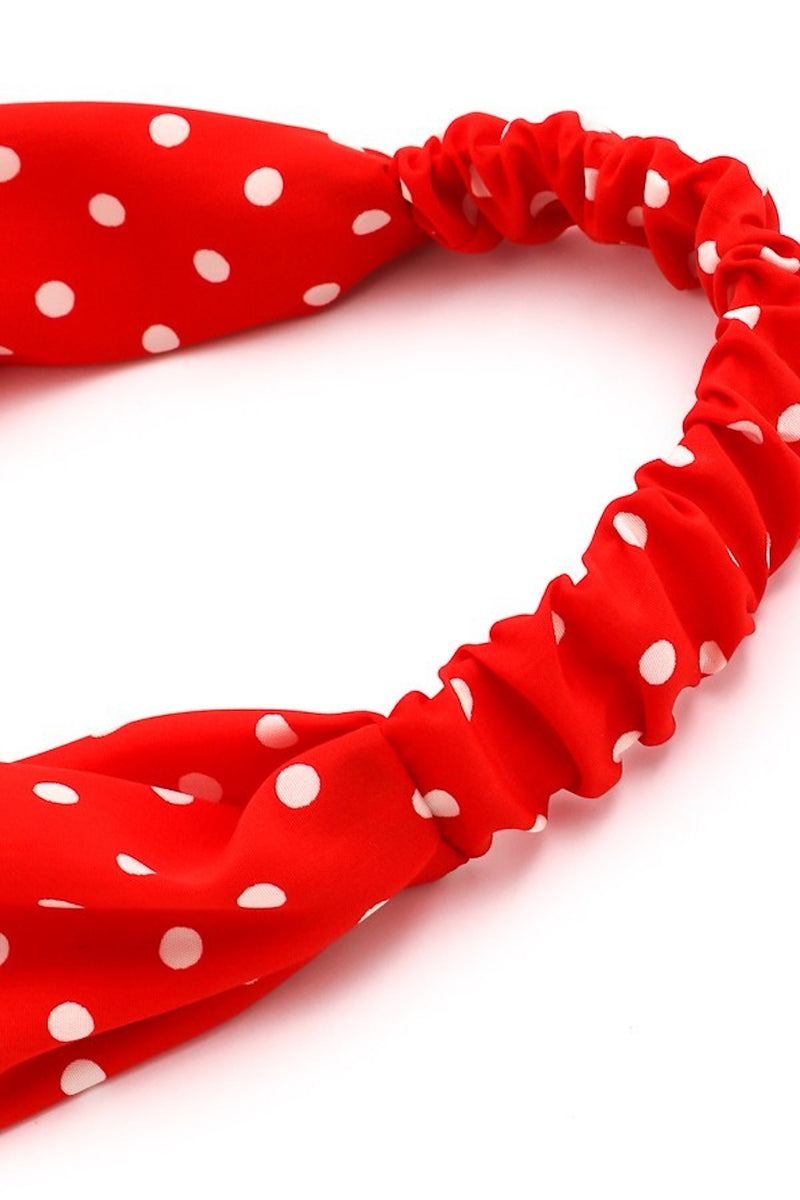 Retro Red Polka Dot Headband
