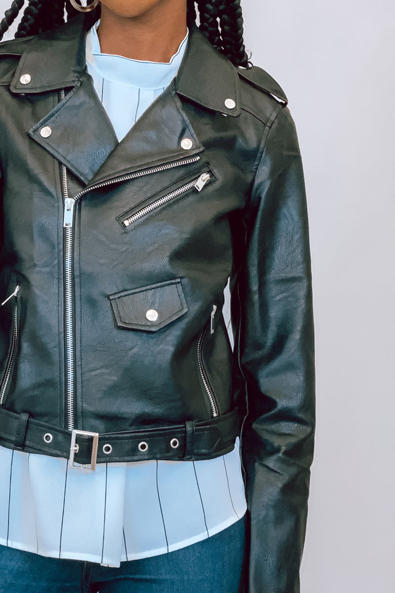 Always A Classic Black Leather Jacket