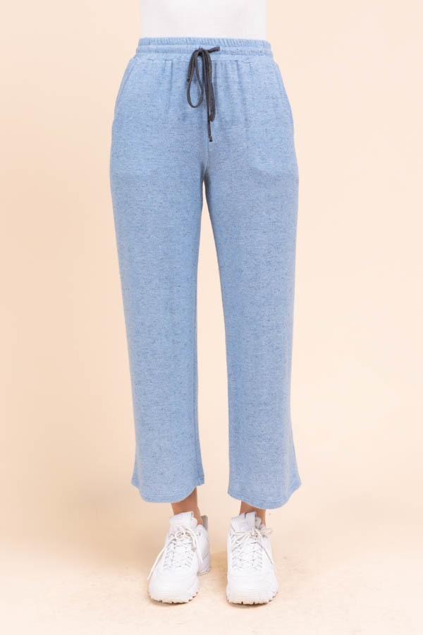 Back to Bed Blue Soft Wide Leg Lounge Pants