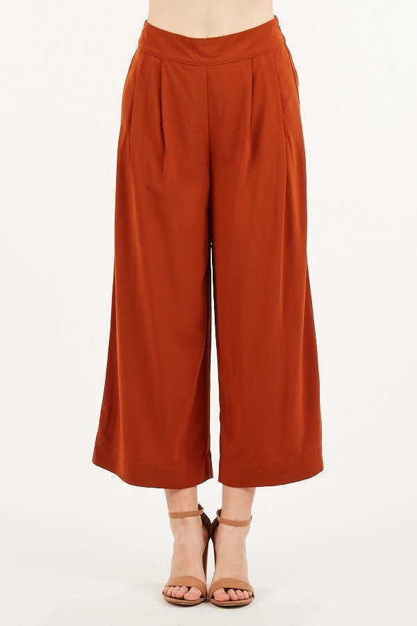 Keep It Culottes Rust Wide Leg Pants