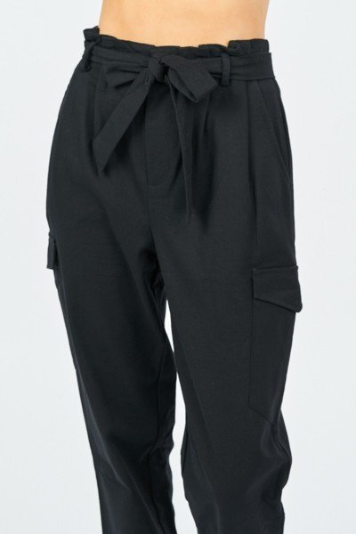 Precious Cargo Black High Waisted Pants