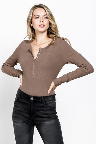 V The One Olive Fuzzy V Neck Sweater