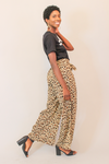 Animal Print High Waisted Wide Leg Pants
