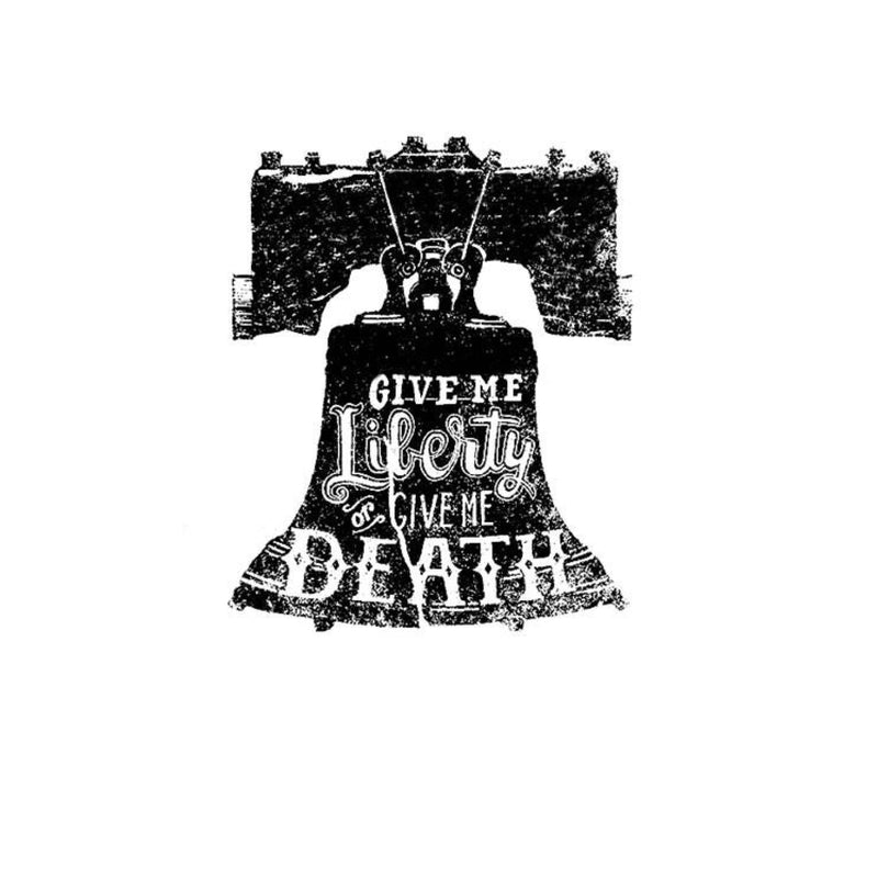 """Give Me Liberty Or Give Me Death"" Liberty Bell Tee"