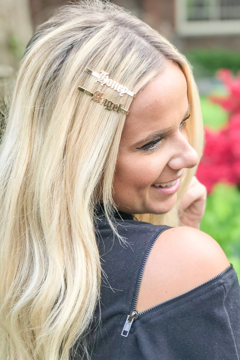 'Honey Angel' Gold Hair Pin Set
