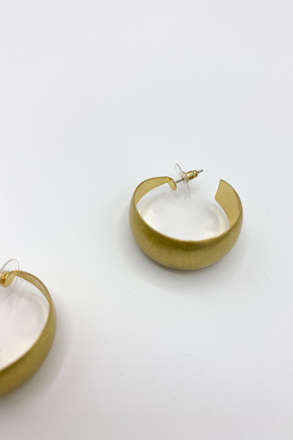 Brush Gold Earrings