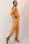 Utility Work It Mustard Belted Jumpsuit