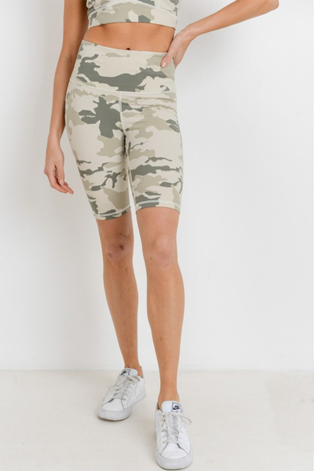 Camo High Waisted Biker Shorts
