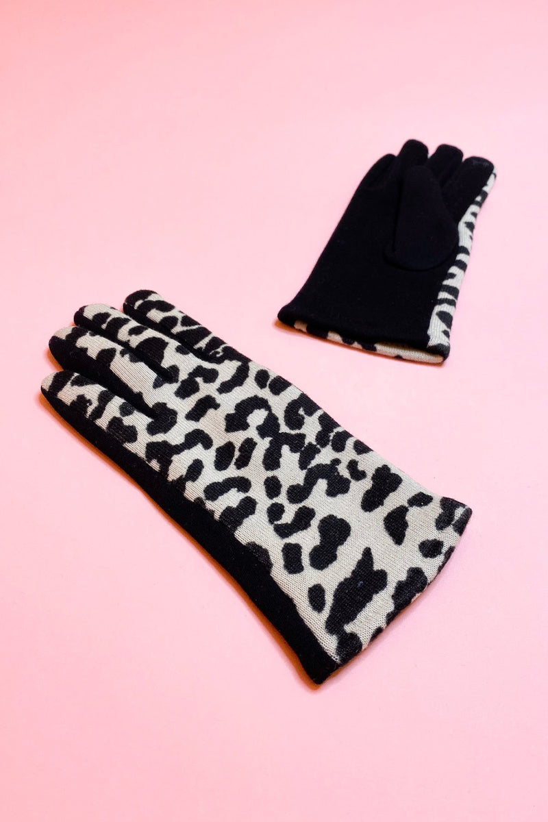 Animal Print Soft Gloves