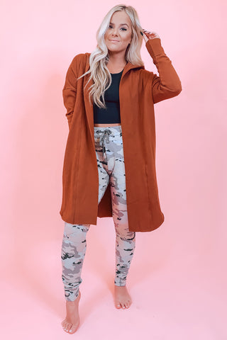 Keep Me Cozy Heather Grey Long Cardigan