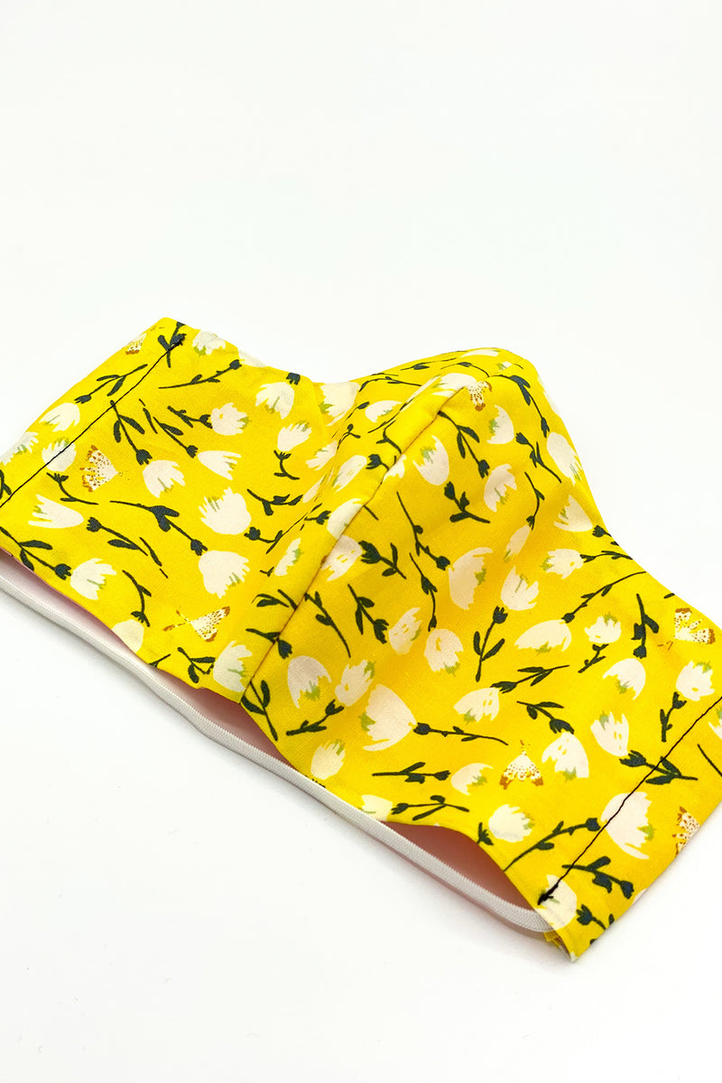 Nothin' Bud Love Yellow Floral Mask