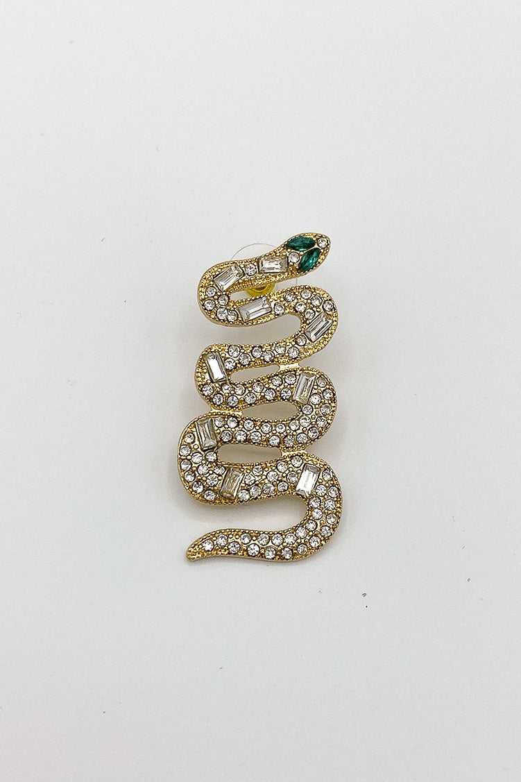 Hiss & Tell Diamond Snake Earrings