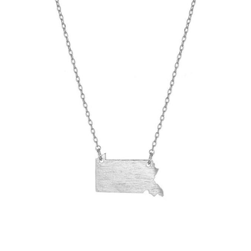 Pennsylvania State Shaped Necklace