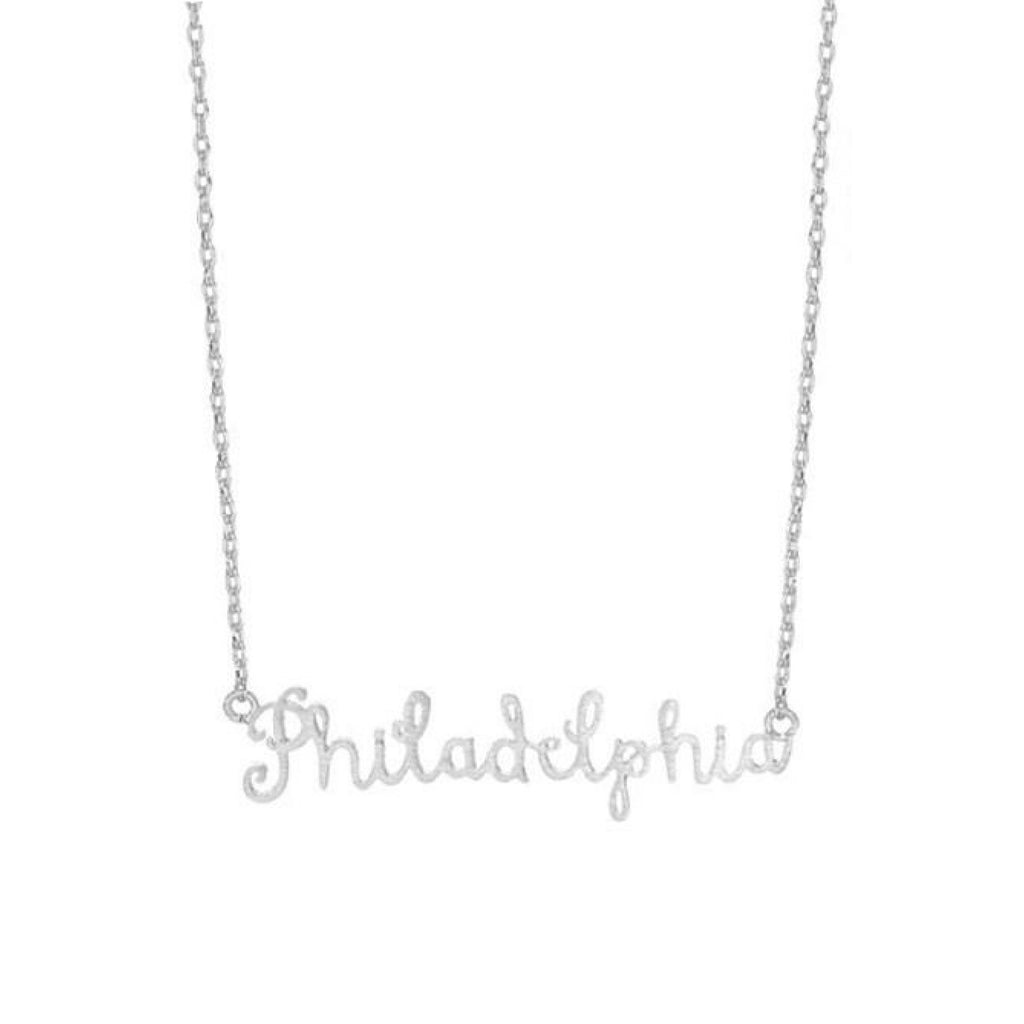 Philadelphia Text Necklace