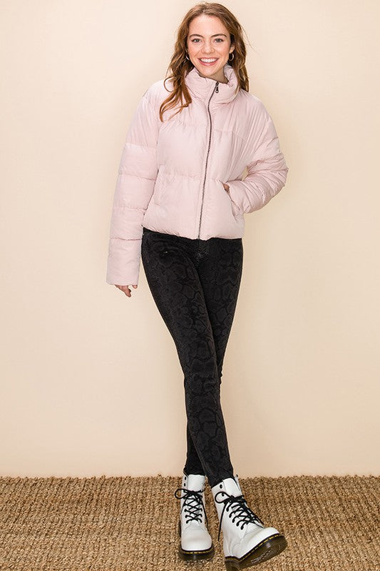 Light Pink Puffer Coat