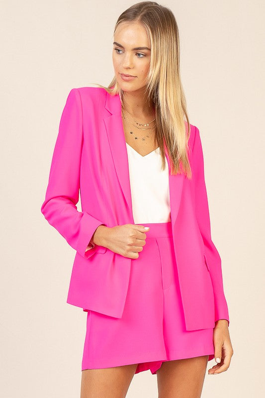 Babe In Charge Ultra Pink Blazer