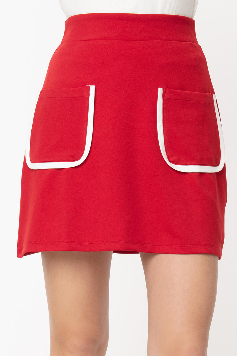 Red Say It Loud Mod Swing Skirt by Smak Parlour