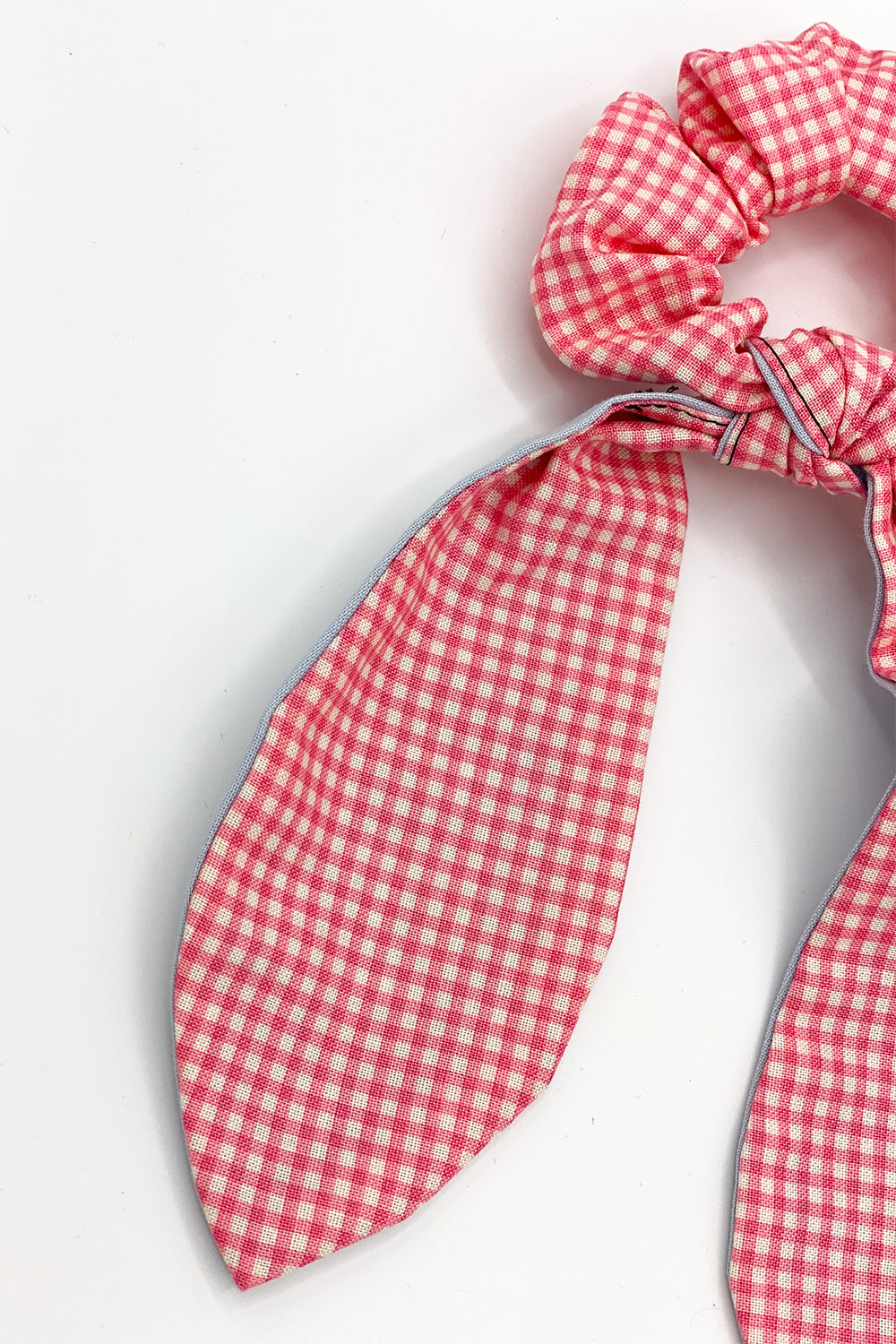 Gingham Your Attention Pink Scrunchie