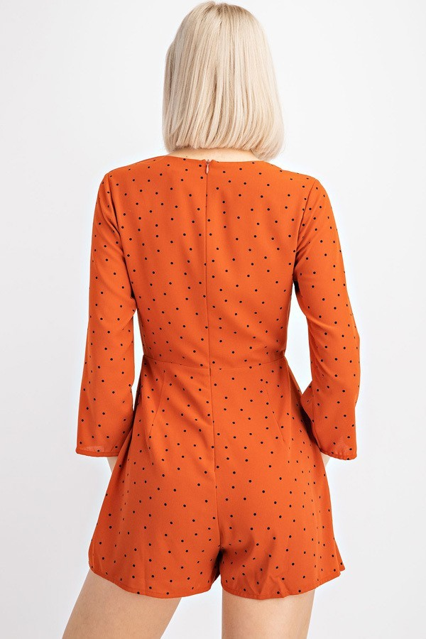 Rust Have Polka Dot Romper