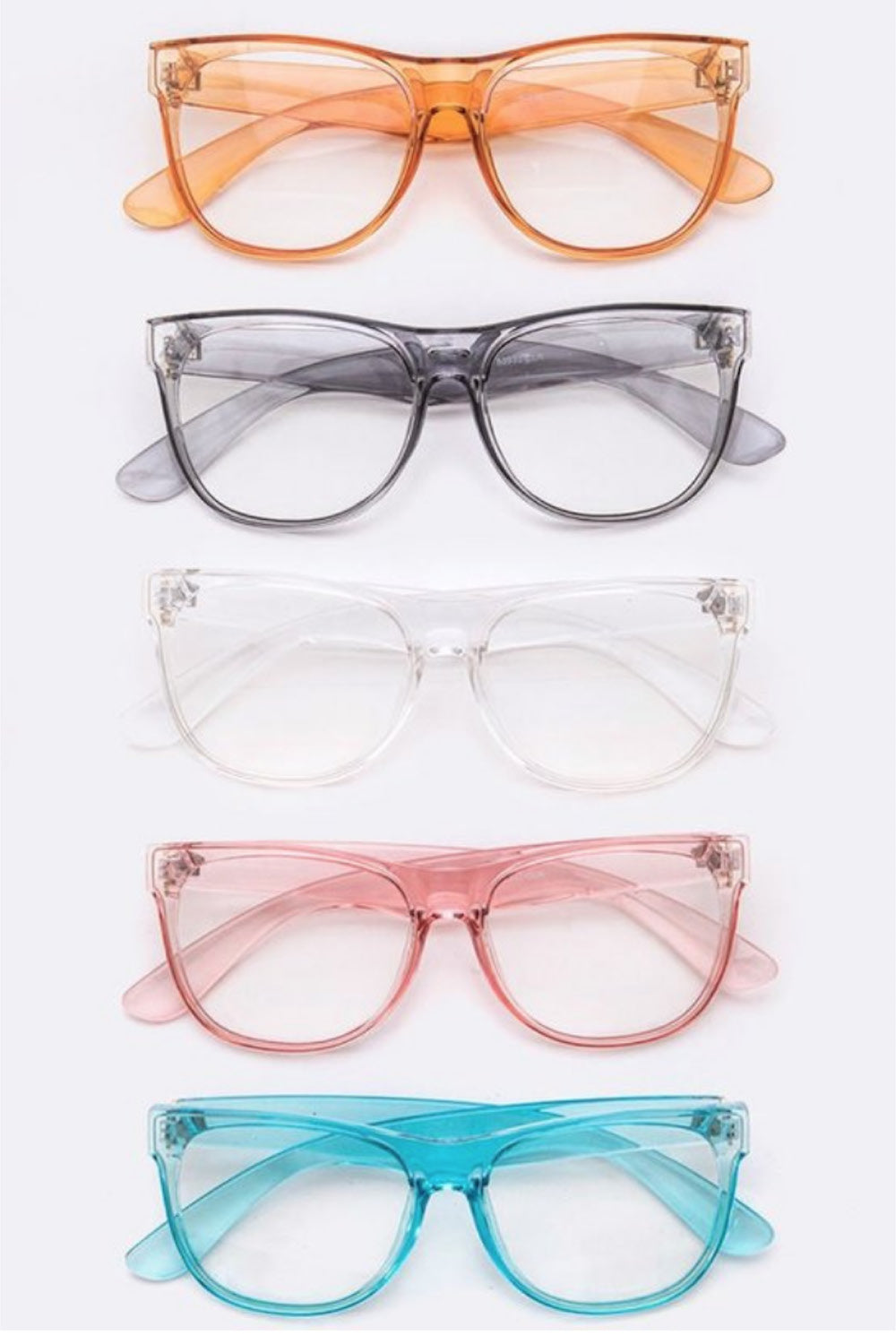 Neon Clear Lens Glasses