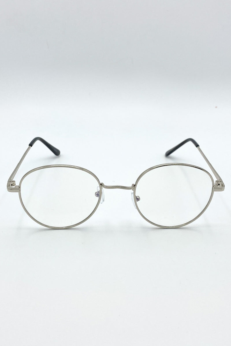 Reannoin Metal Framed Blue Light Glasses