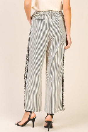 Double Up Printed Wide Leg Pants