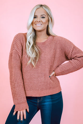 All Set Turtleneck Rust Sweater
