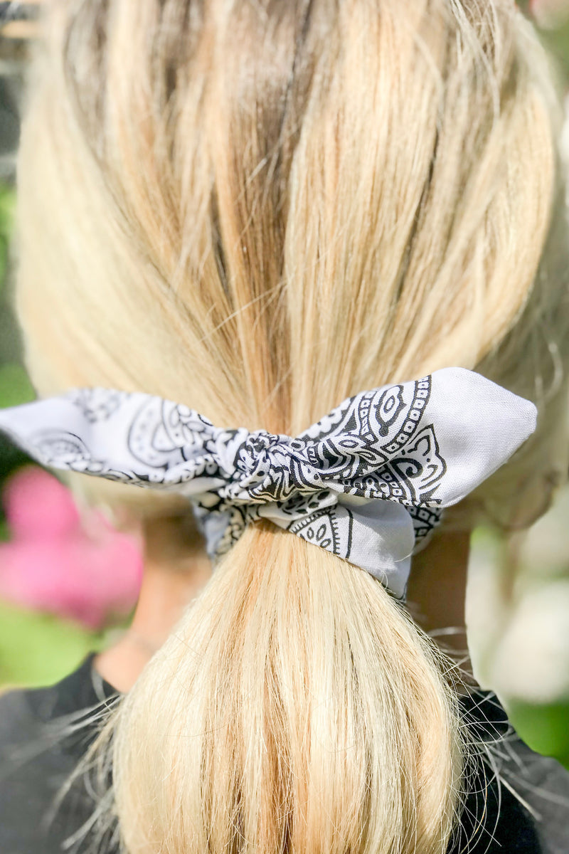 Bandana Bow Hair Scrunchie