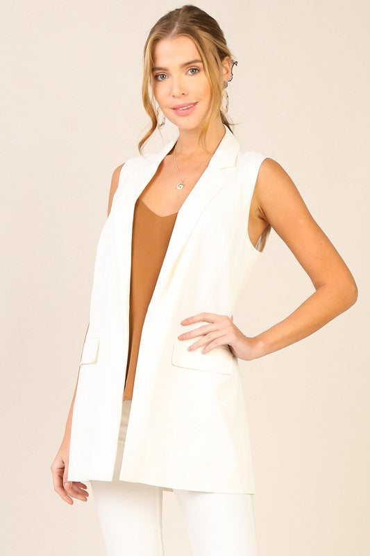 Put It To The Test White Blazer Vest