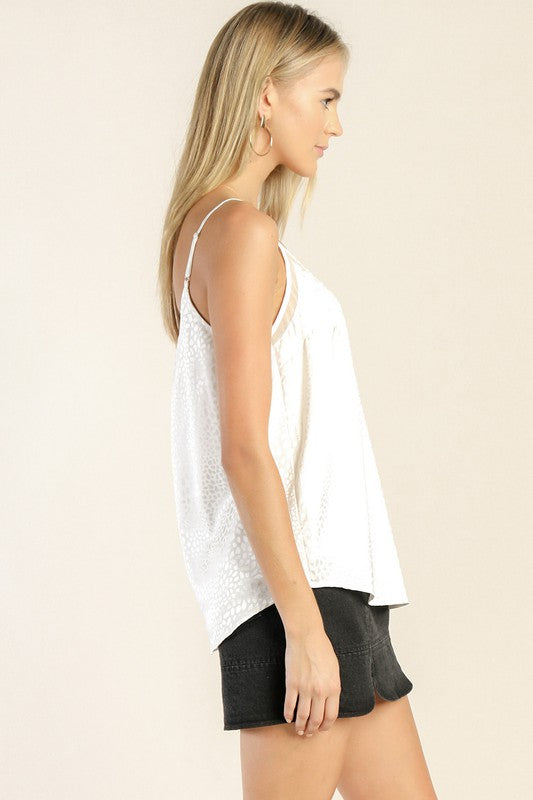 Not Your Basic Jacquard Satin Tank