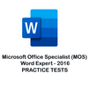 MS Word Expert Certification 2016 Practice Tests