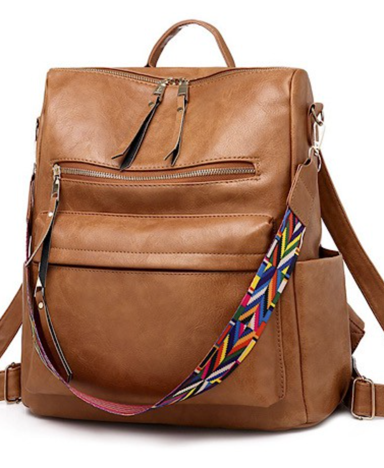 RESTOCK! Leather Backpack - Brown