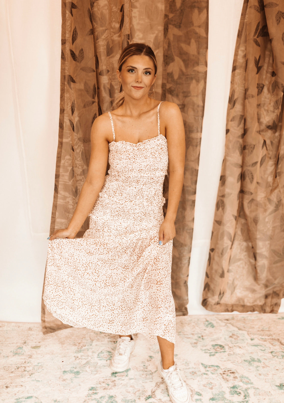 Mollie Floral Dress  - Cream