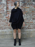 BLACK WRAP DRESS, ABLESIA - Kapade Shop